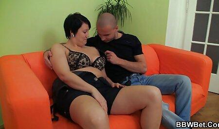 Brunette get cum shower from the crowd. porn film